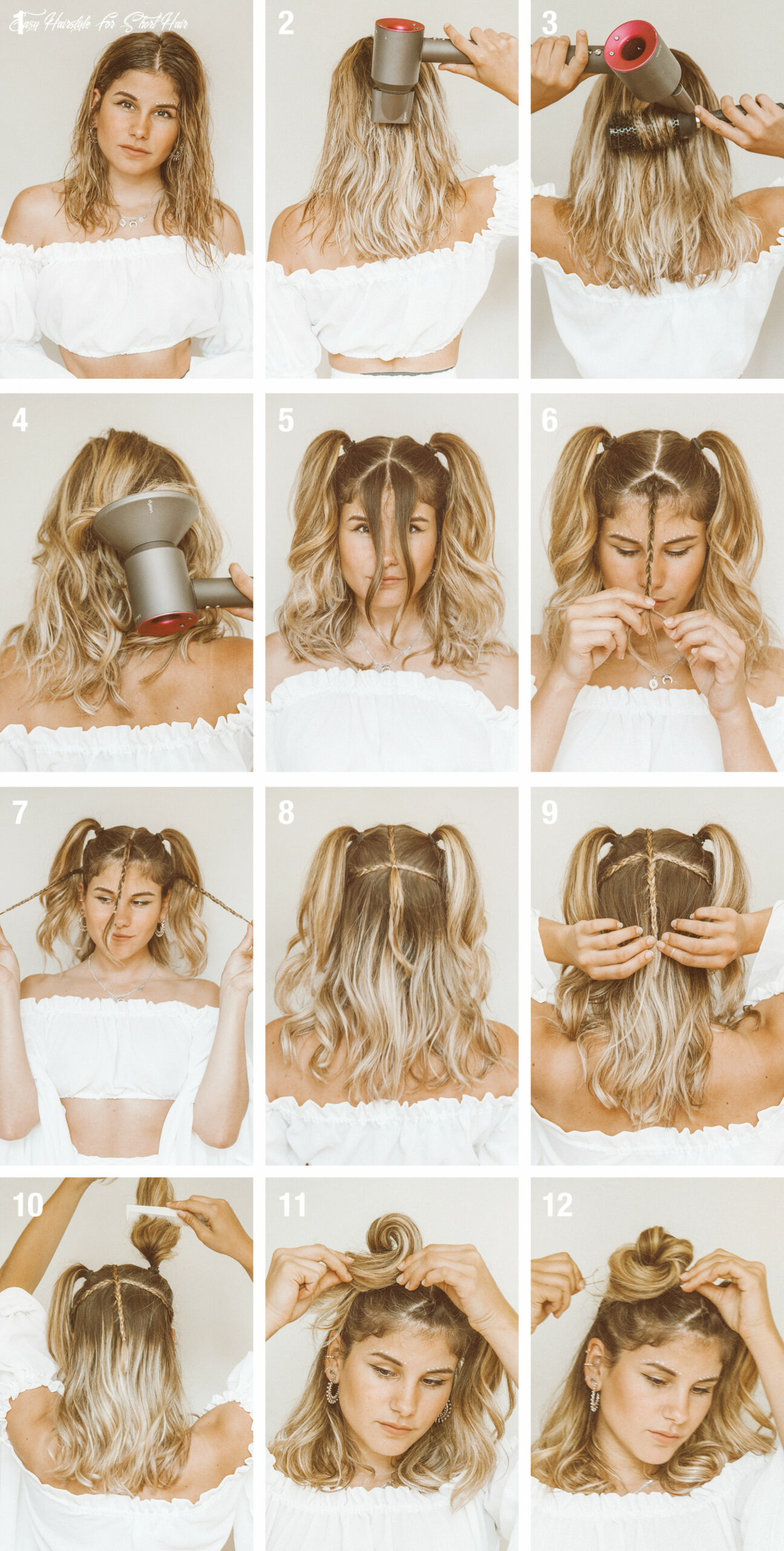 Tutorial: Quick & Easy Festival Hairstyle (for short hair ...