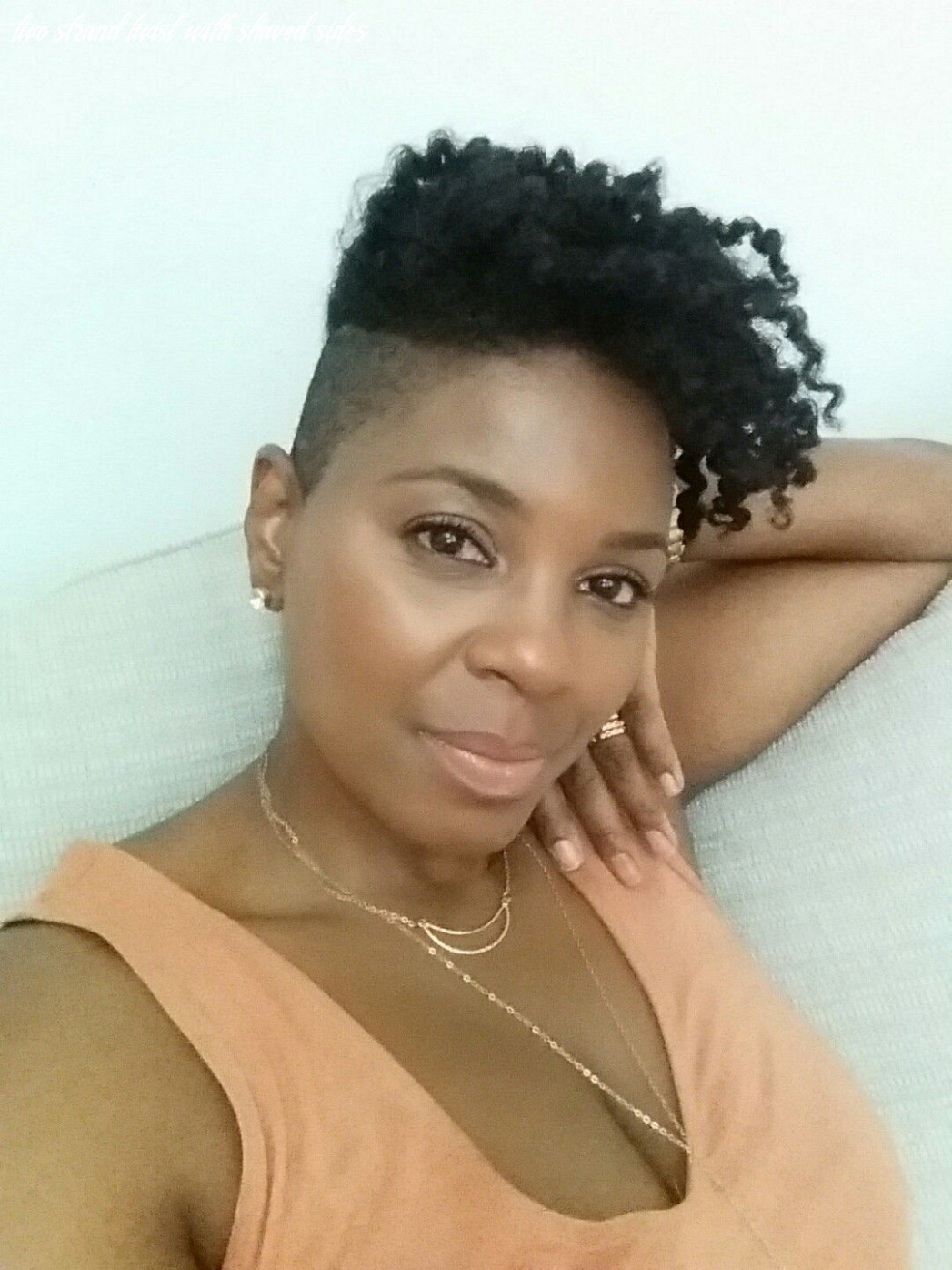 Twist out with shaved sides (undercut) | Braids with shaved sides ...