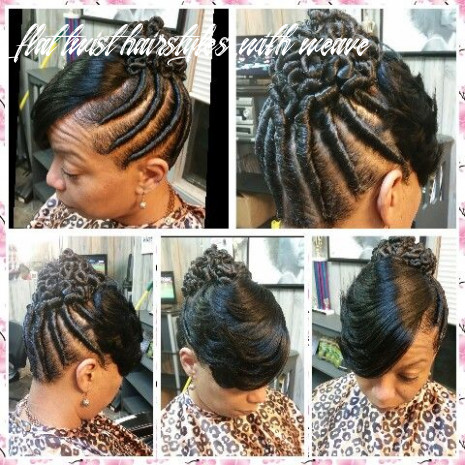 Twist with a feathered bangs | flat twist hairstyles, flat twist