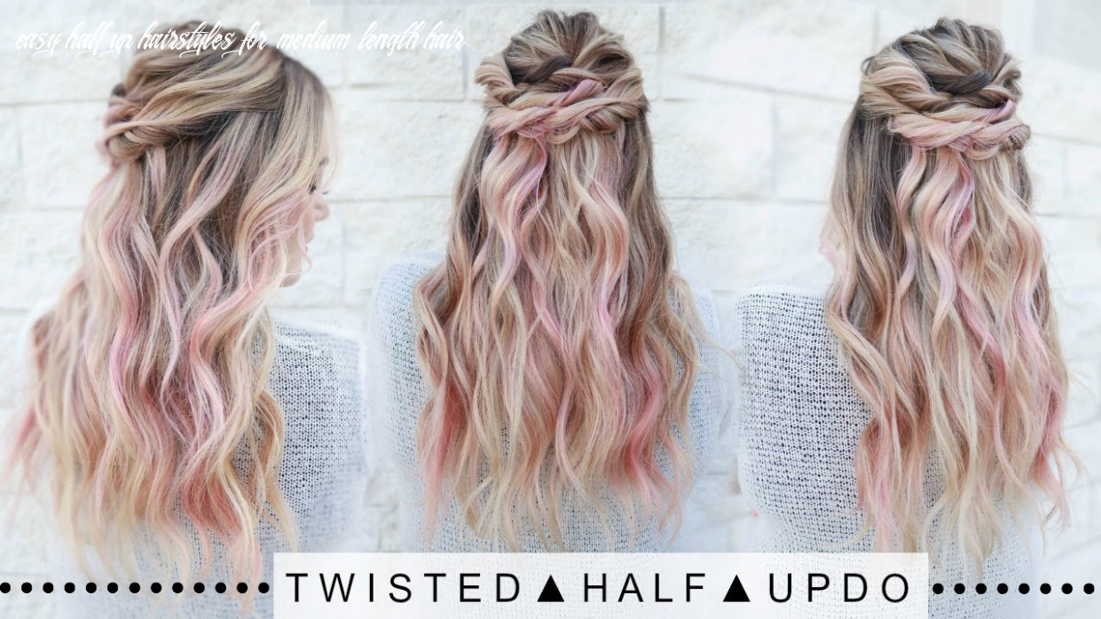 Twisted half updo hairstyle | super easy! easy half up hairstyles for medium length hair