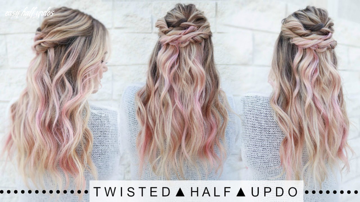 Twisted half updo hairstyle | super easy! easy half updos