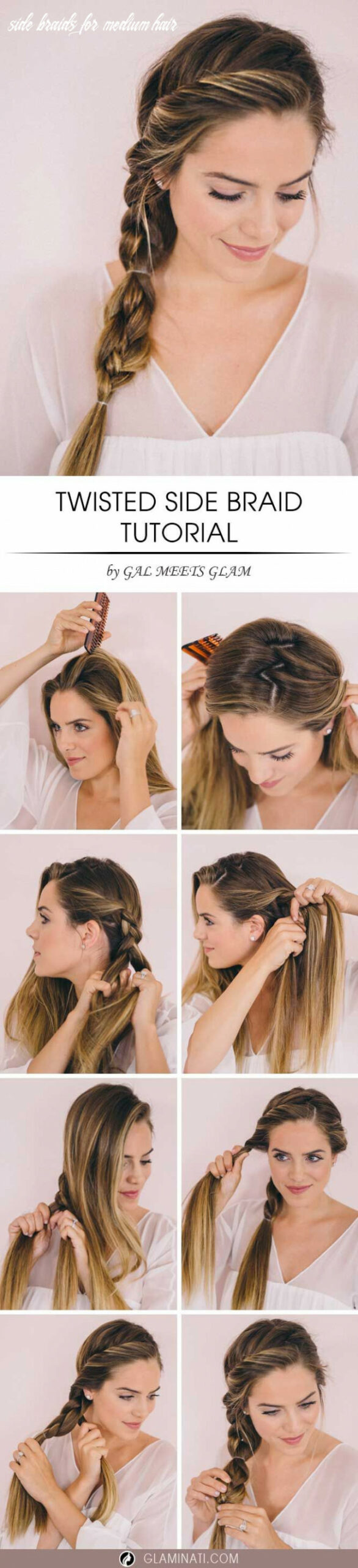 Twisted side braid for various occasions | long hair styles