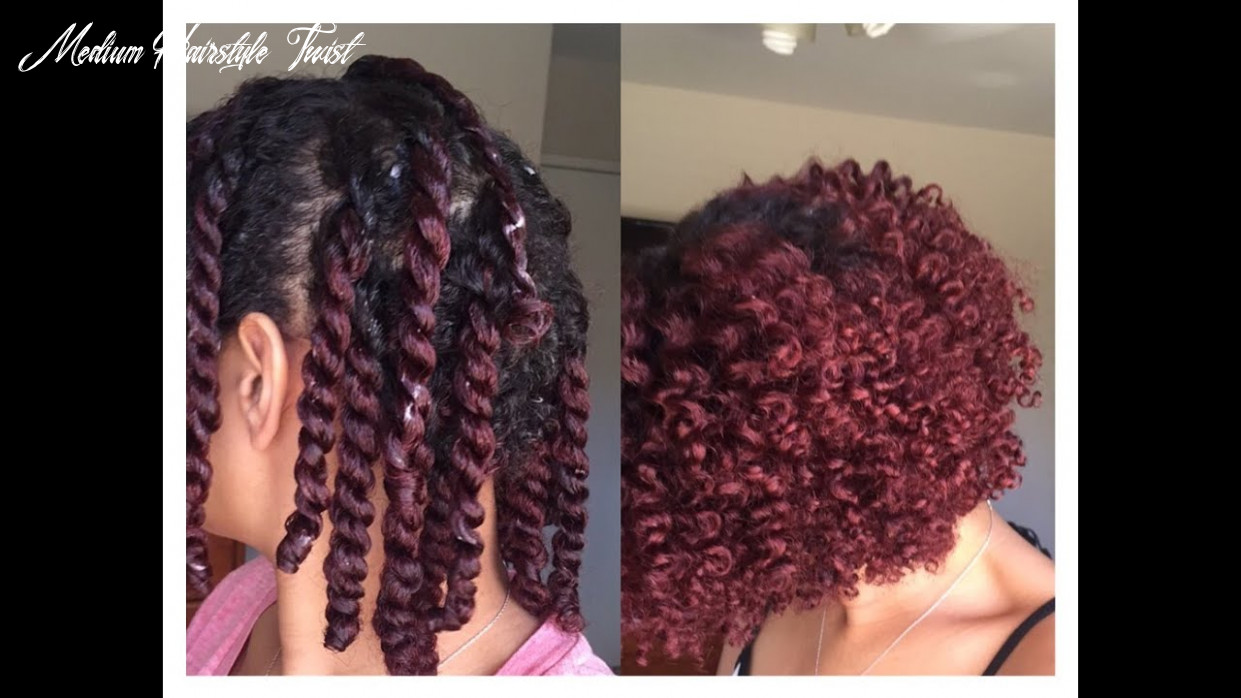 Two strand twist out on short/medium length natural hair medium hairstyle twist