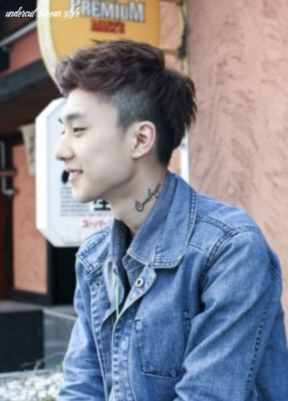 Undercut & edge | asian men hairstyle, korean hairstyle, korean