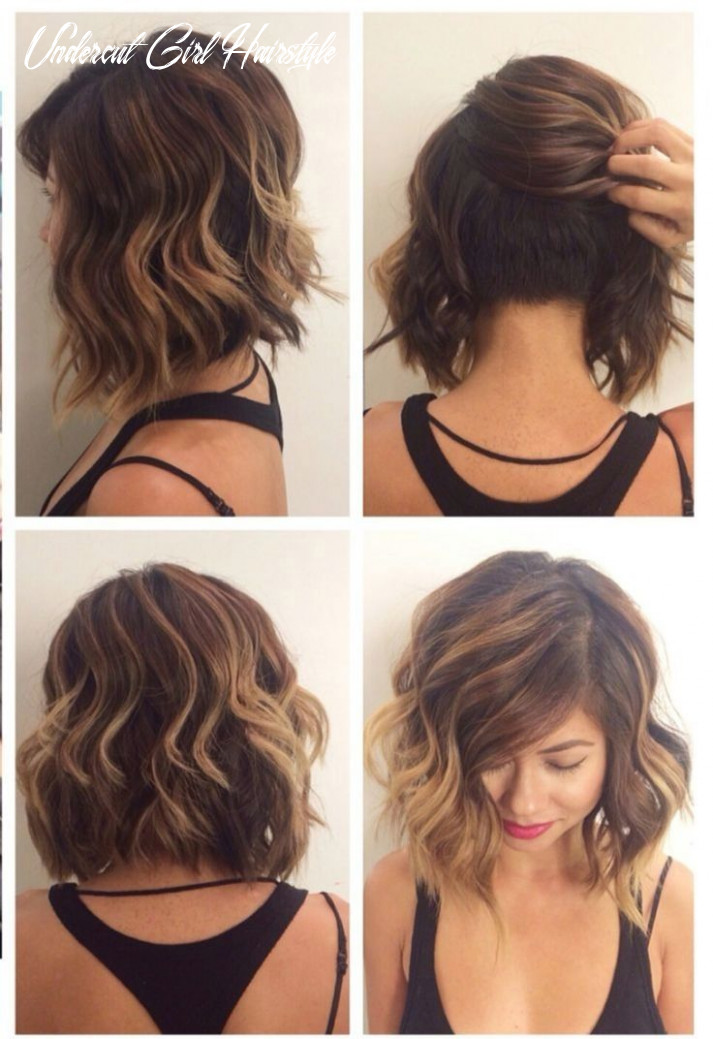 Undercut bob hairstyle women | fade haircut | undercut long hair