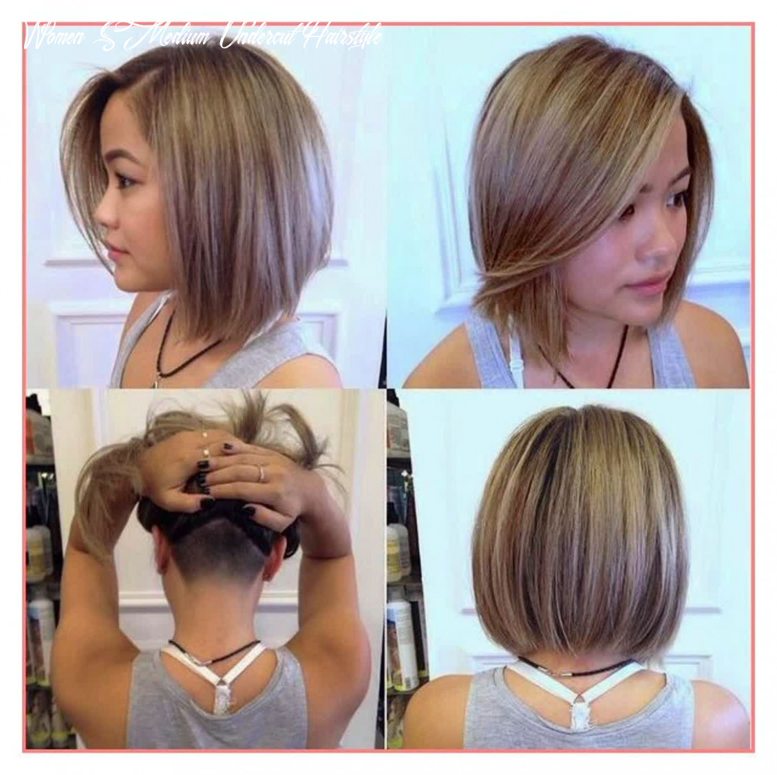 Undercut bob hairstyle women | learn | medium length hair