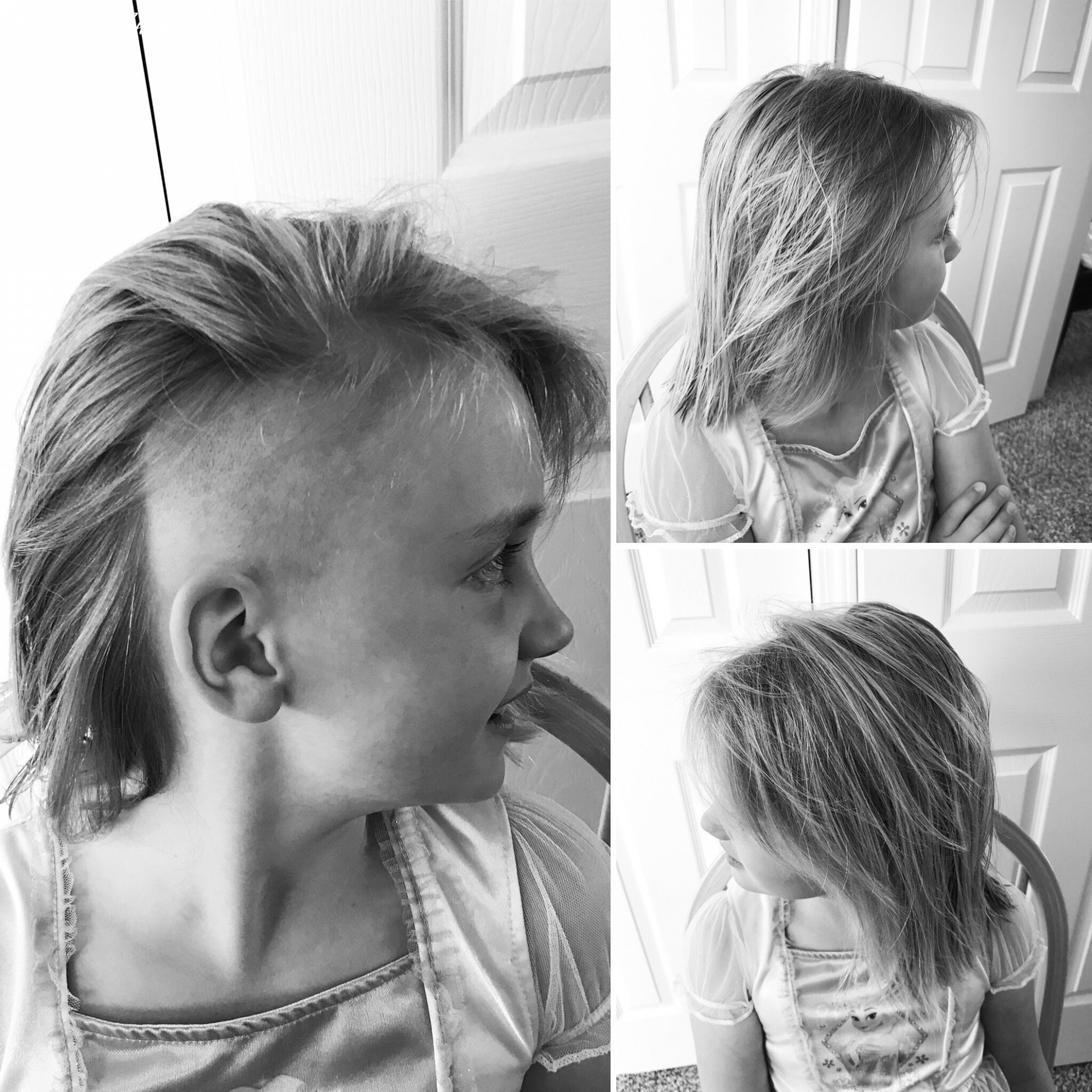 Undercut hair haircut girls hairstyle diy kitchen beautician