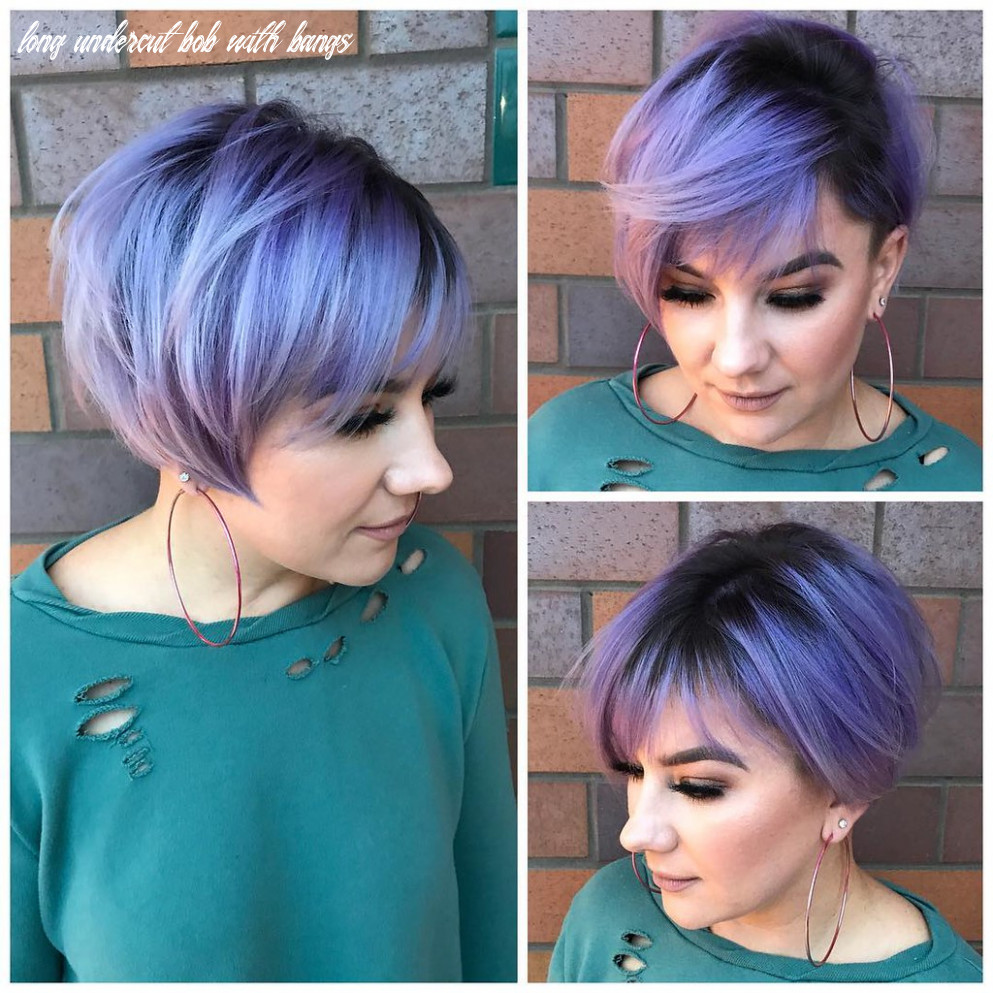 Undercut Pixie-Bob with Side Swept Bangs and Metallic Purp… | Flickr