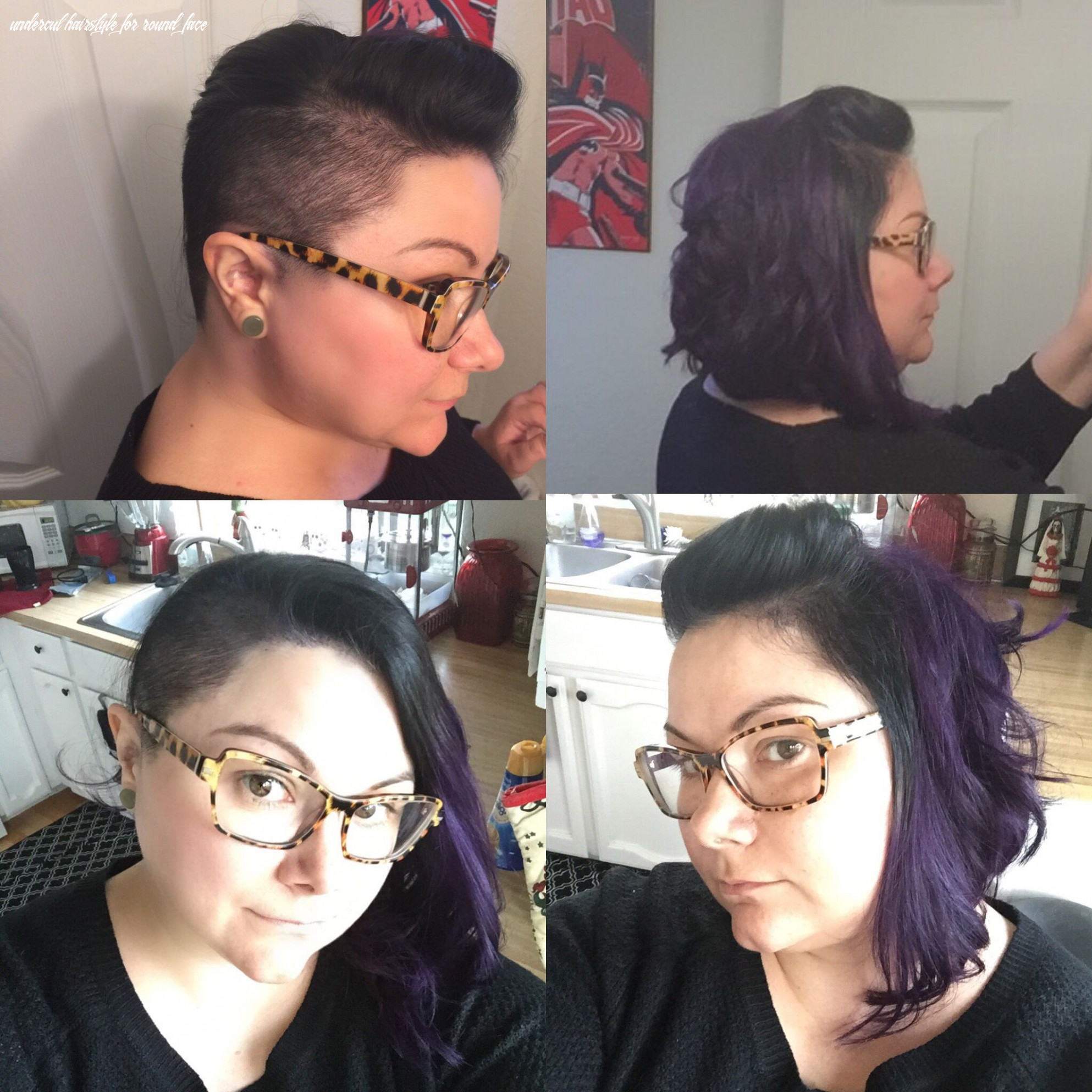 Undercut side shave round face plus size | plus size hairstyles