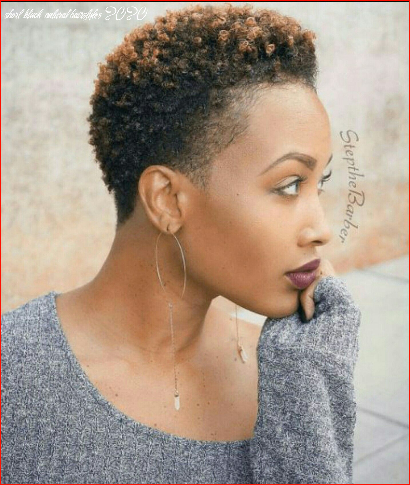 Unique hairstyles for natural short black hair photos of short