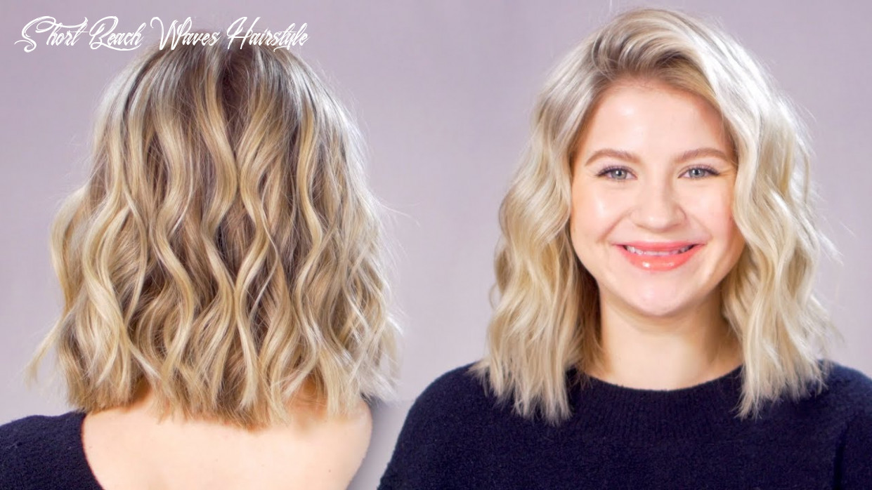 Updated beachy waves short hair tutorial short beach waves hairstyle