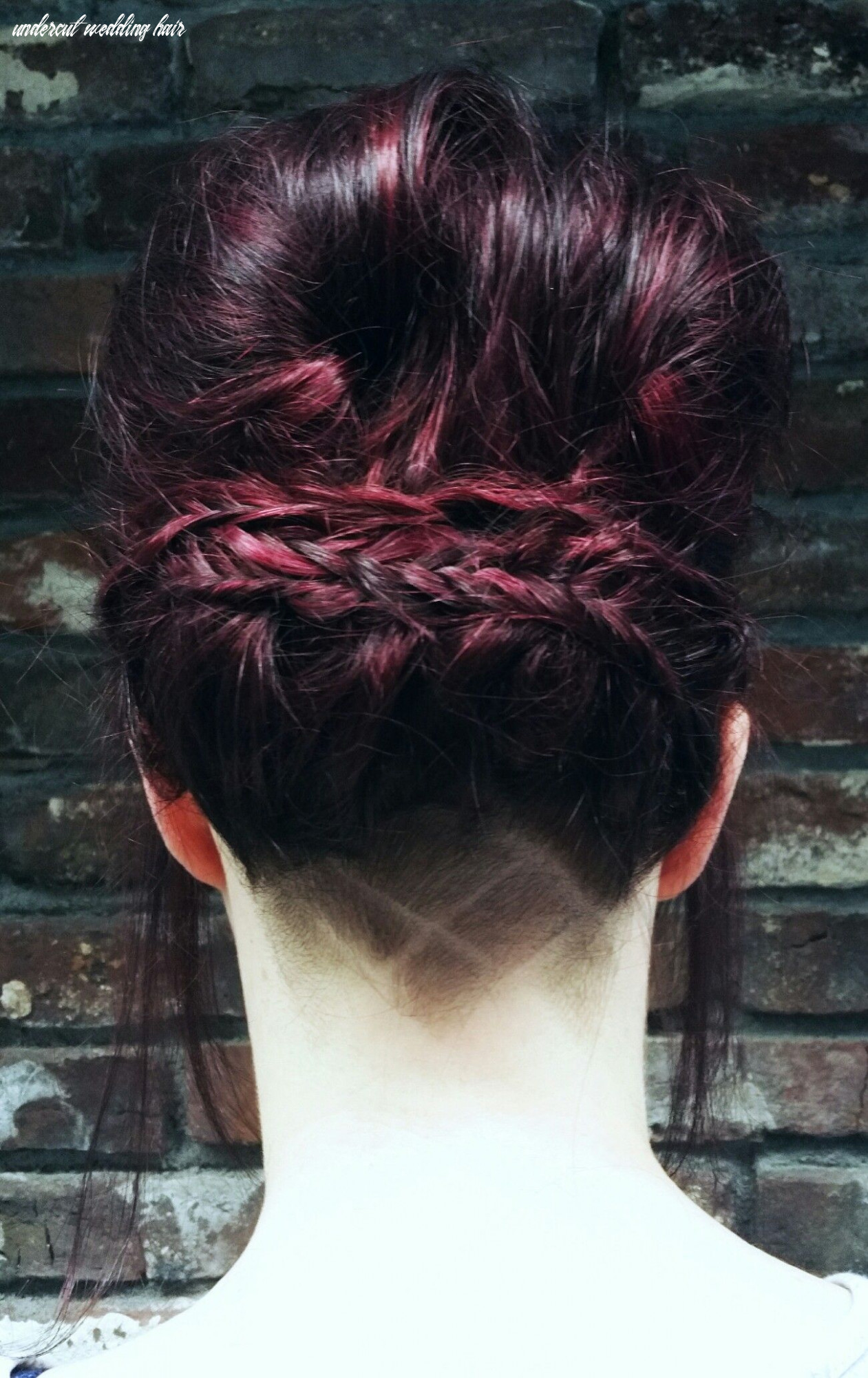 Updo with undercut and hair tattoo by jessica 》 salon du trezo