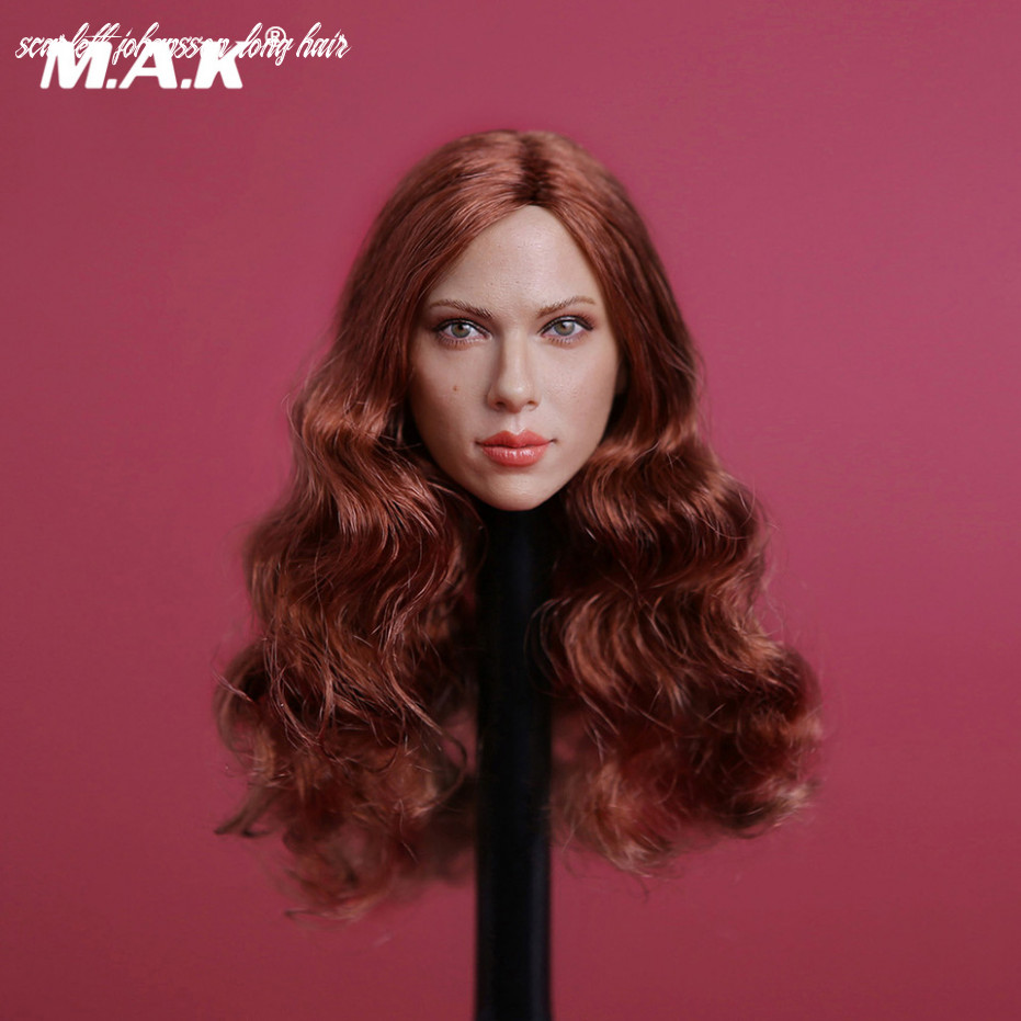 US $100.100 100% OFF|10/10 Black Widow Scarlett Johansson Long Curly Red Hair  Head Sculpt for 102 Inches Womens Bodies Figures Dolls|head sculpt|black ...