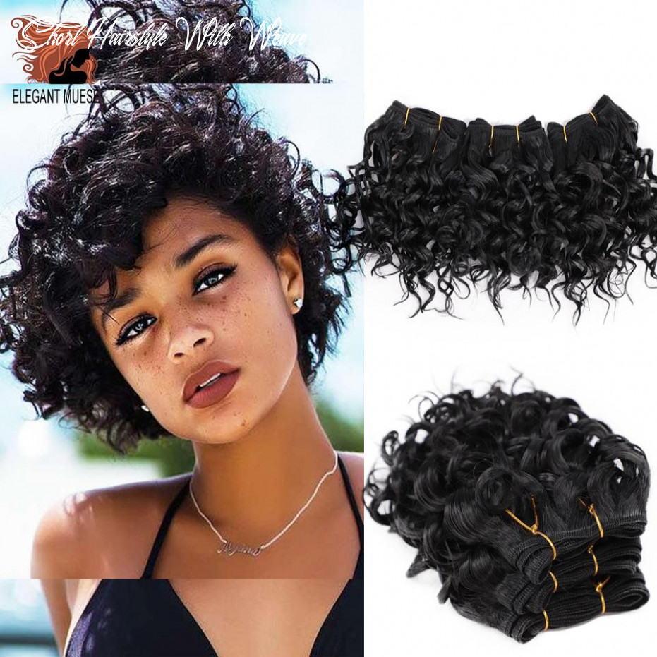 Us $9 9 9% off|elegant muses afro kinky curly synthetic weave bouncy jerry curl natural short hair welf bundles black hair weaving