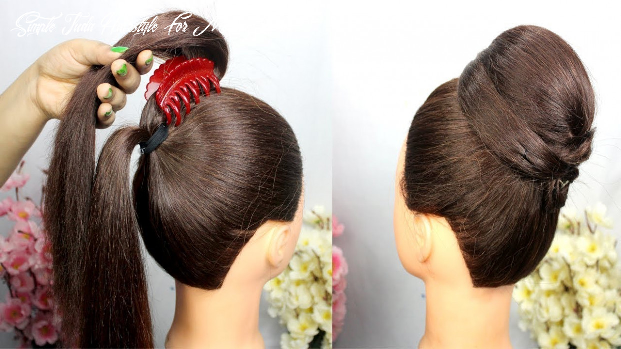 Very easy hairstyle with using clutcher simple craft ideas simple juda hairstyle for medium hair