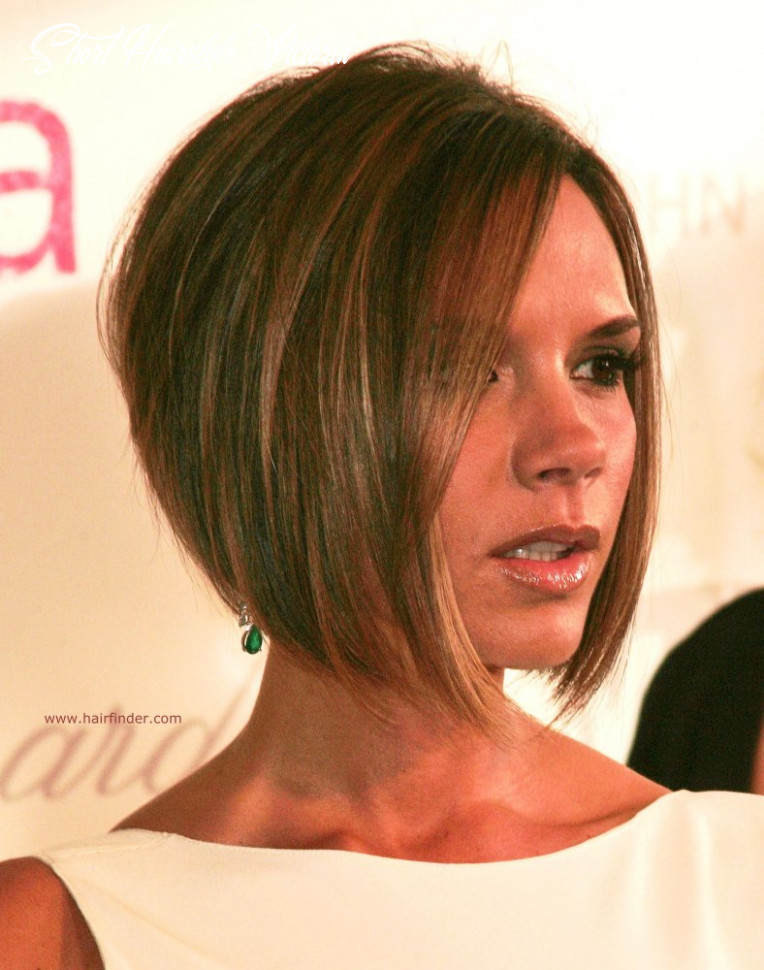 Victoria beckham | longer in the front bob with a stacked nape short hairstyle victoria