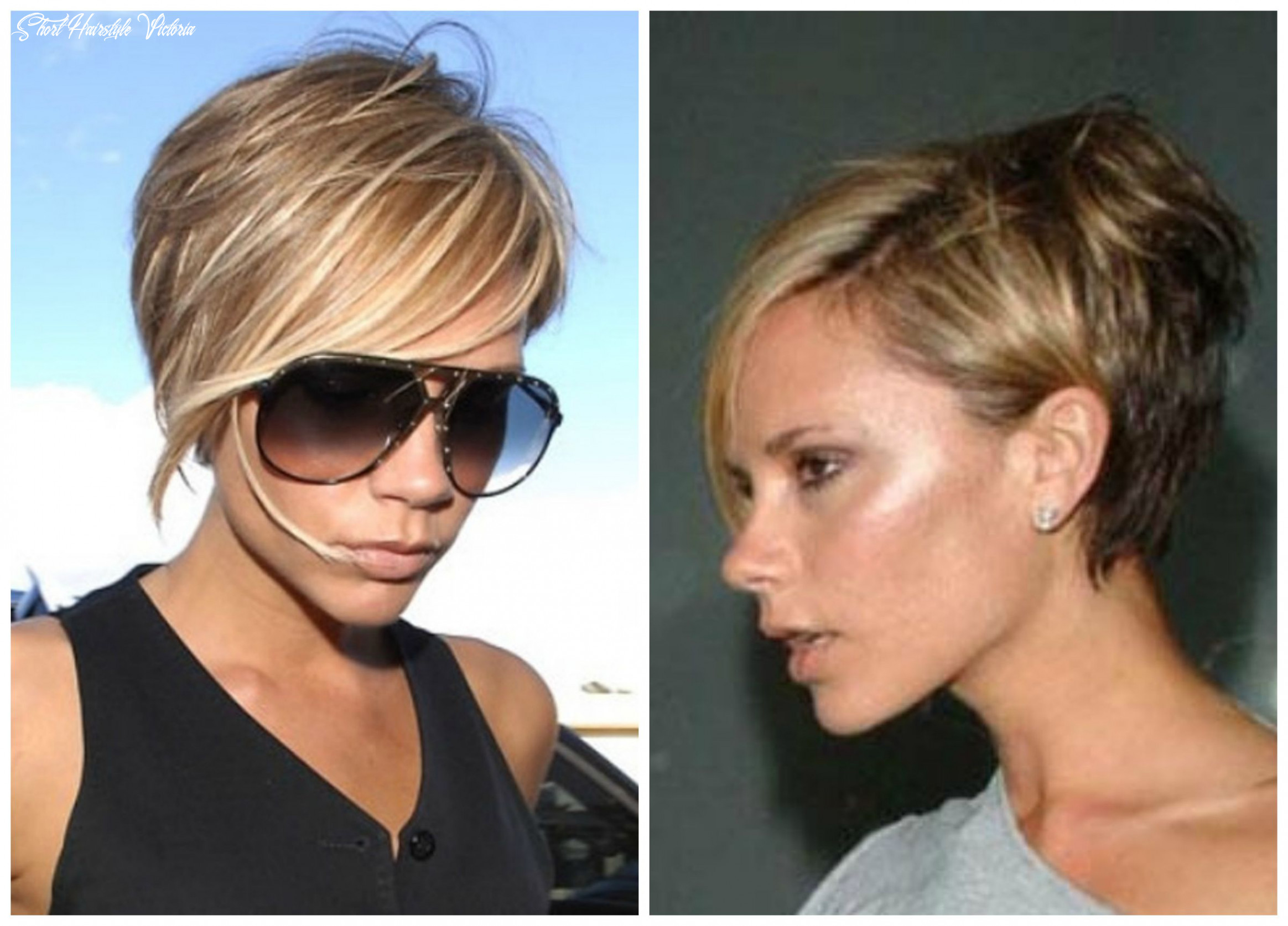 Victoria beckham short hairstyles front and back | victoria