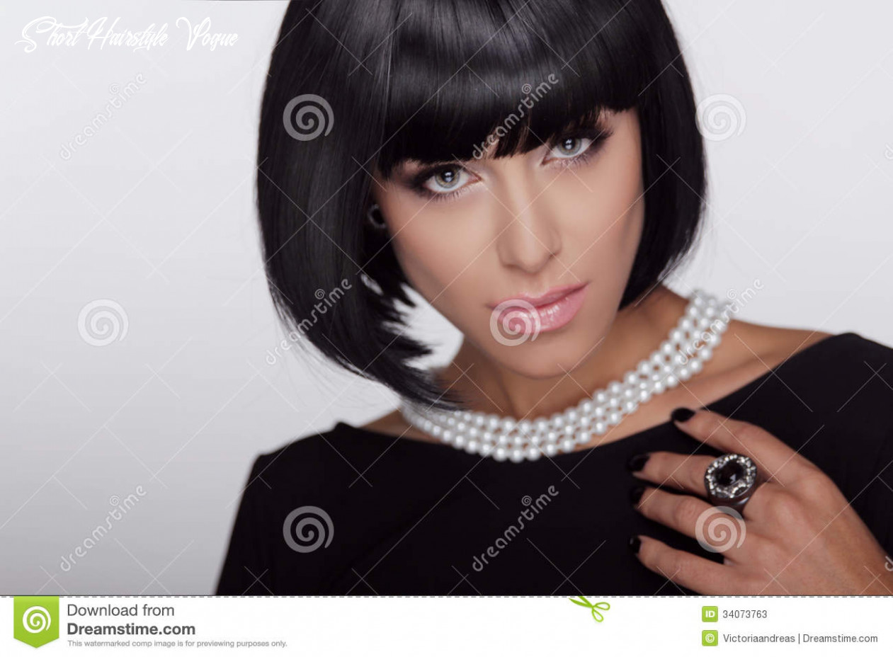 Vogue Style. Fashion Haircut. Hairstyle. Stock Image - Image of ...