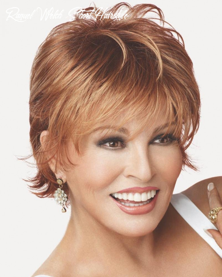 Voltage large cap wispy bang short tousled raquel welch wigs color r9s raquel welch short hairstyle