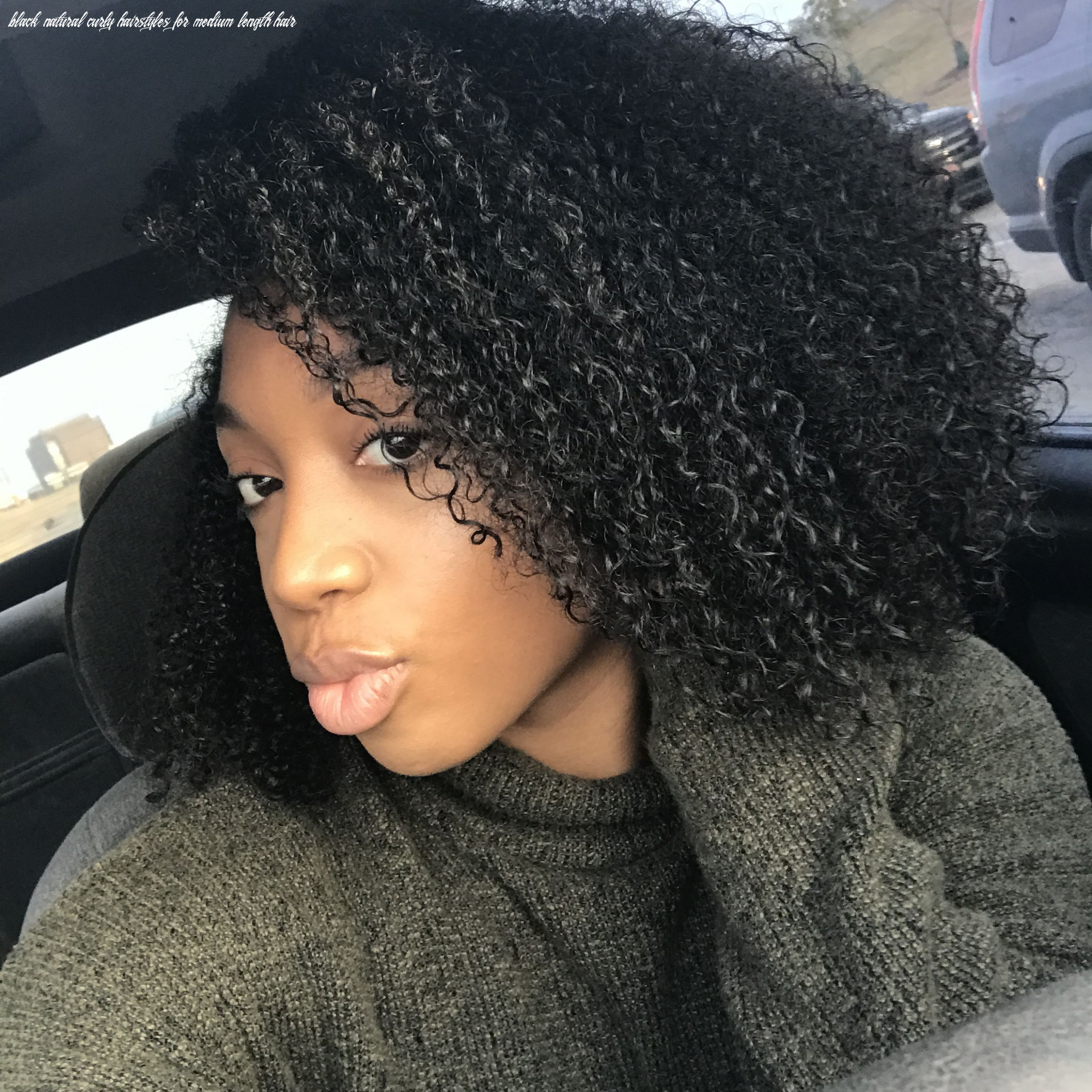 Wash and go Natural hair Medium length natural hair Black curly ...