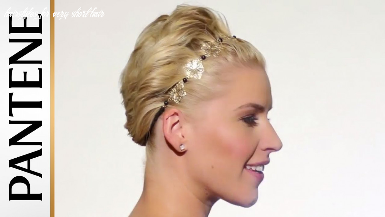 Wavy pixie cut updo: hairstyles for short hair | pantene hairstyles for very short hair