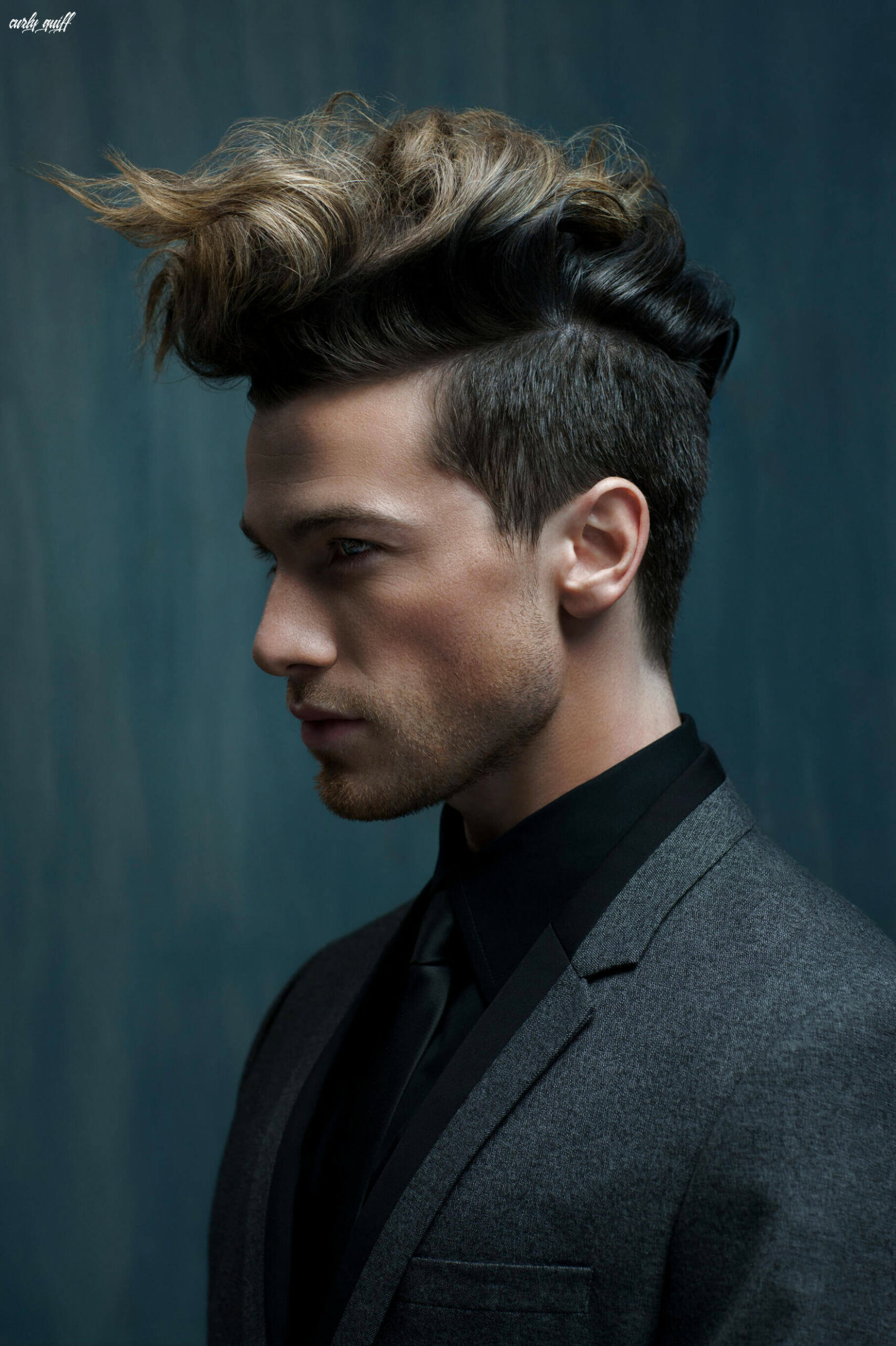 Wavy quiff for men: how to style this non boring holiday hairstyle curly quiff