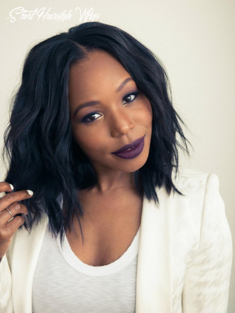 Wavy short hair with full blunt hair ends hairstyle human hair full lace wig short hairstyle wigs
