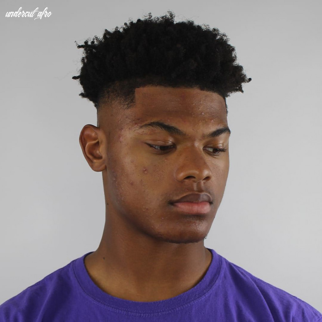 We loved this curly fade we love this curly afro undercut with
