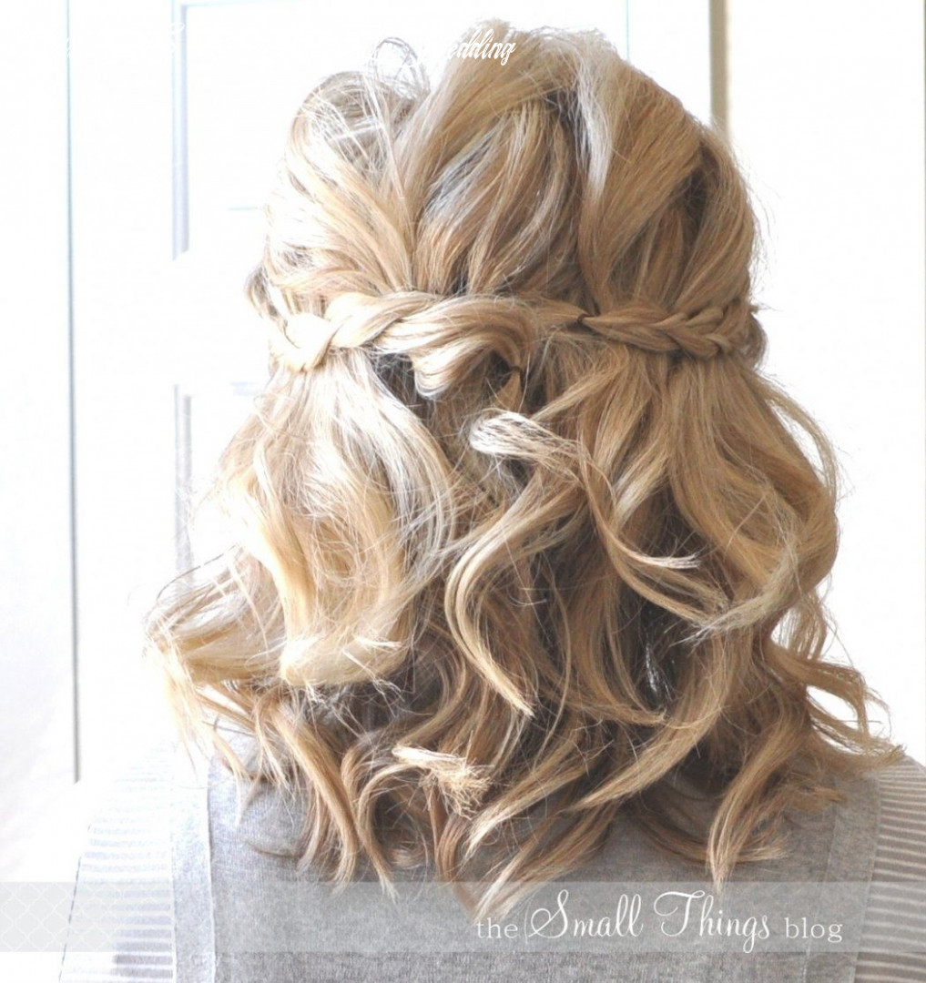 Wedding Hairstyle For Short Hair Half Up Wedding Hairstyles For ...