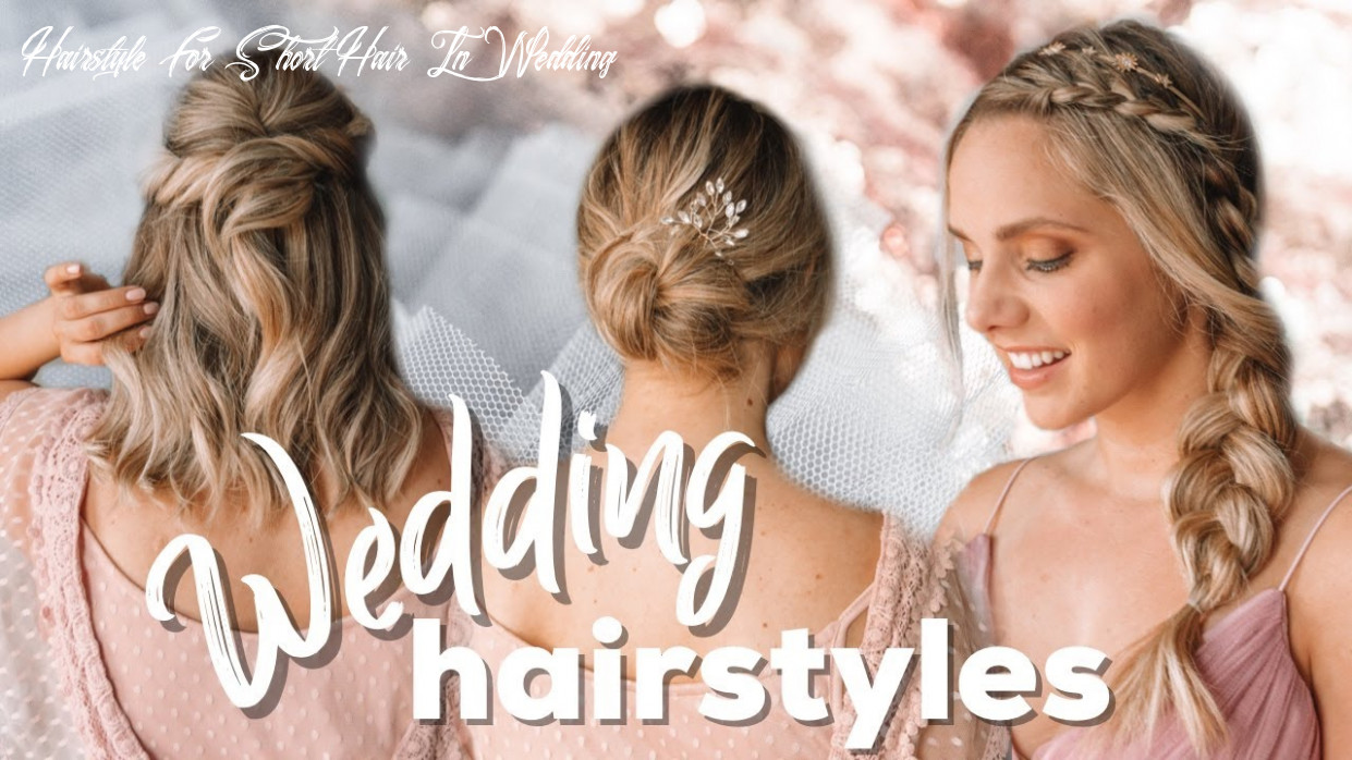Wedding hairstyles easy tutorial for short and long hair kayley melissa hairstyle for short hair in wedding