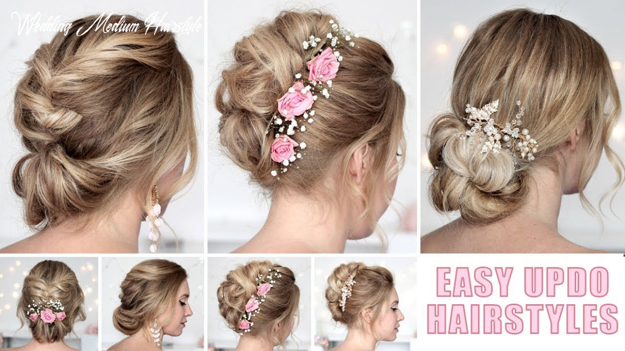 Wedding hairstyles for medium/long hair tutorial ❤ quick and easy updos wedding medium hairstyle