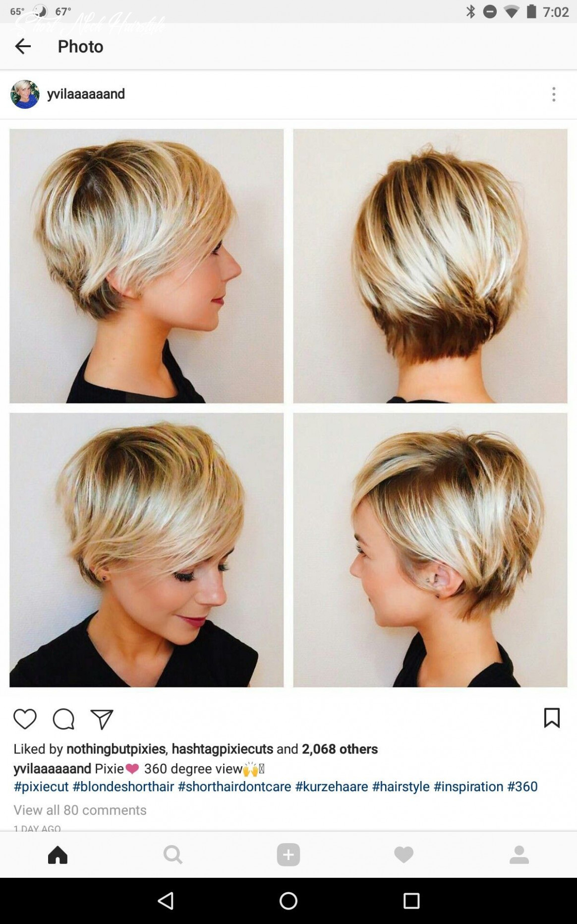 What to do at the nape of the neck   longer pixie haircut, thick