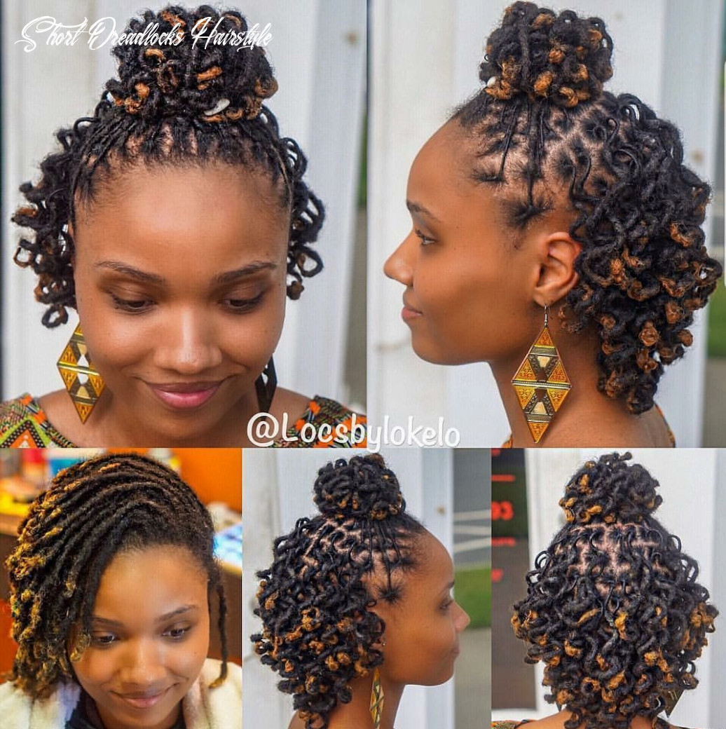 Who said short dreads can't be styled?? | Short locs hairstyles ...