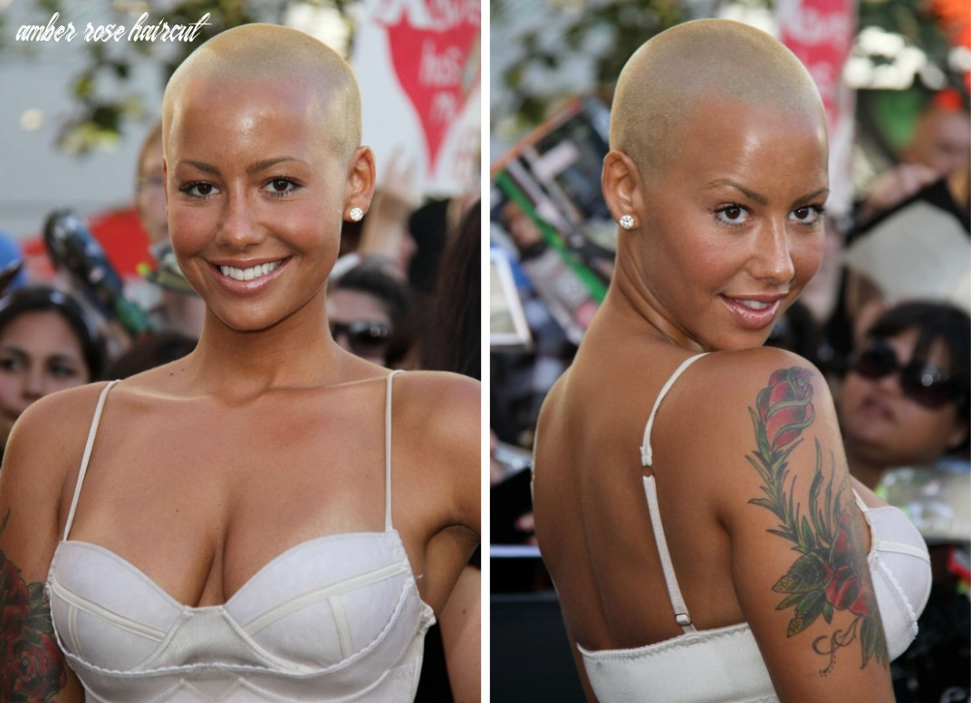 Why amber rose is bald and making a fashion statement with a