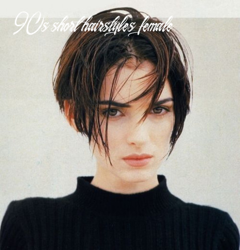 Winona ryder and her hair are the trade marks of 9s girl! so chic
