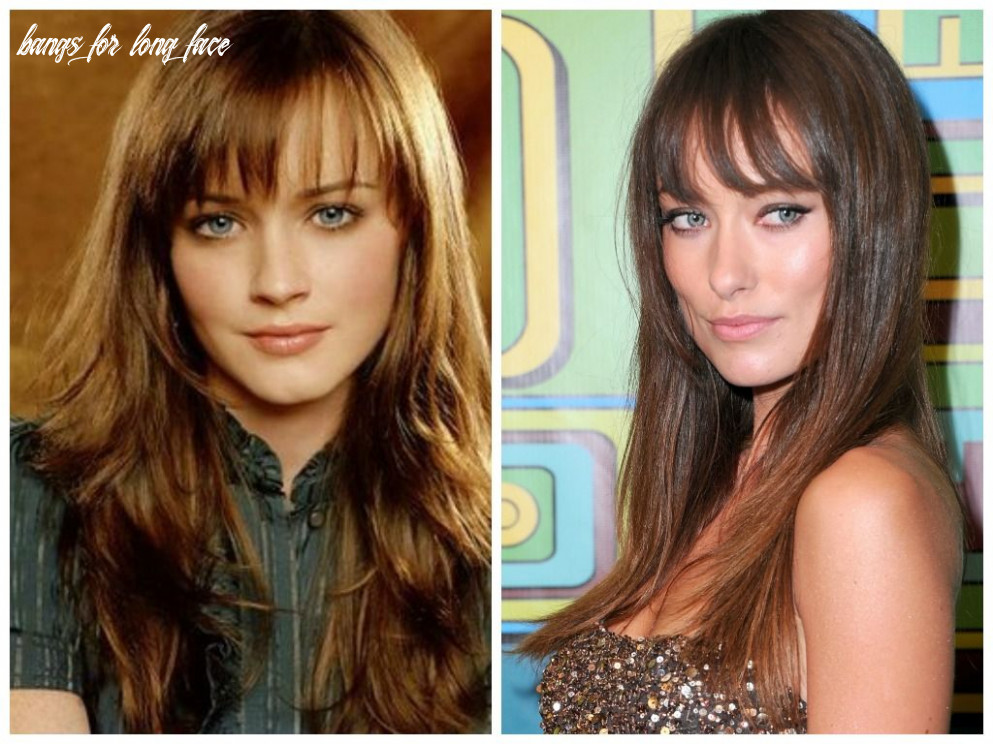 Wispy bangs for women with square face shape | long face shapes