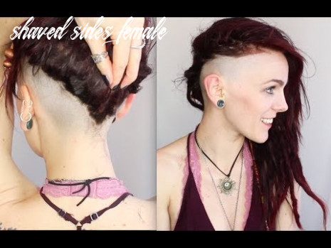 Women's bald undercut | shaving my sides to a zero shaved sides female
