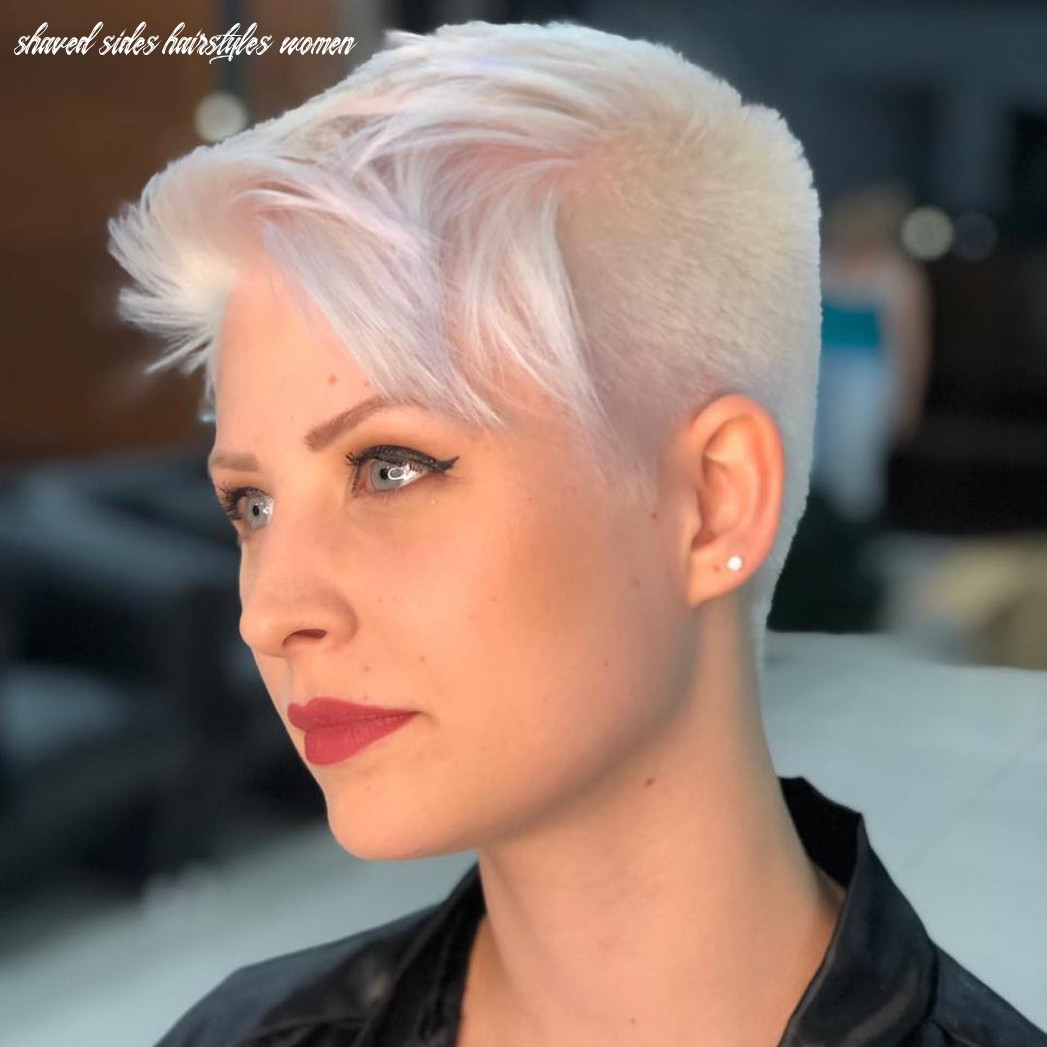 Women's Platinum Undercut Pixie with Shaved Sides and Textured ...
