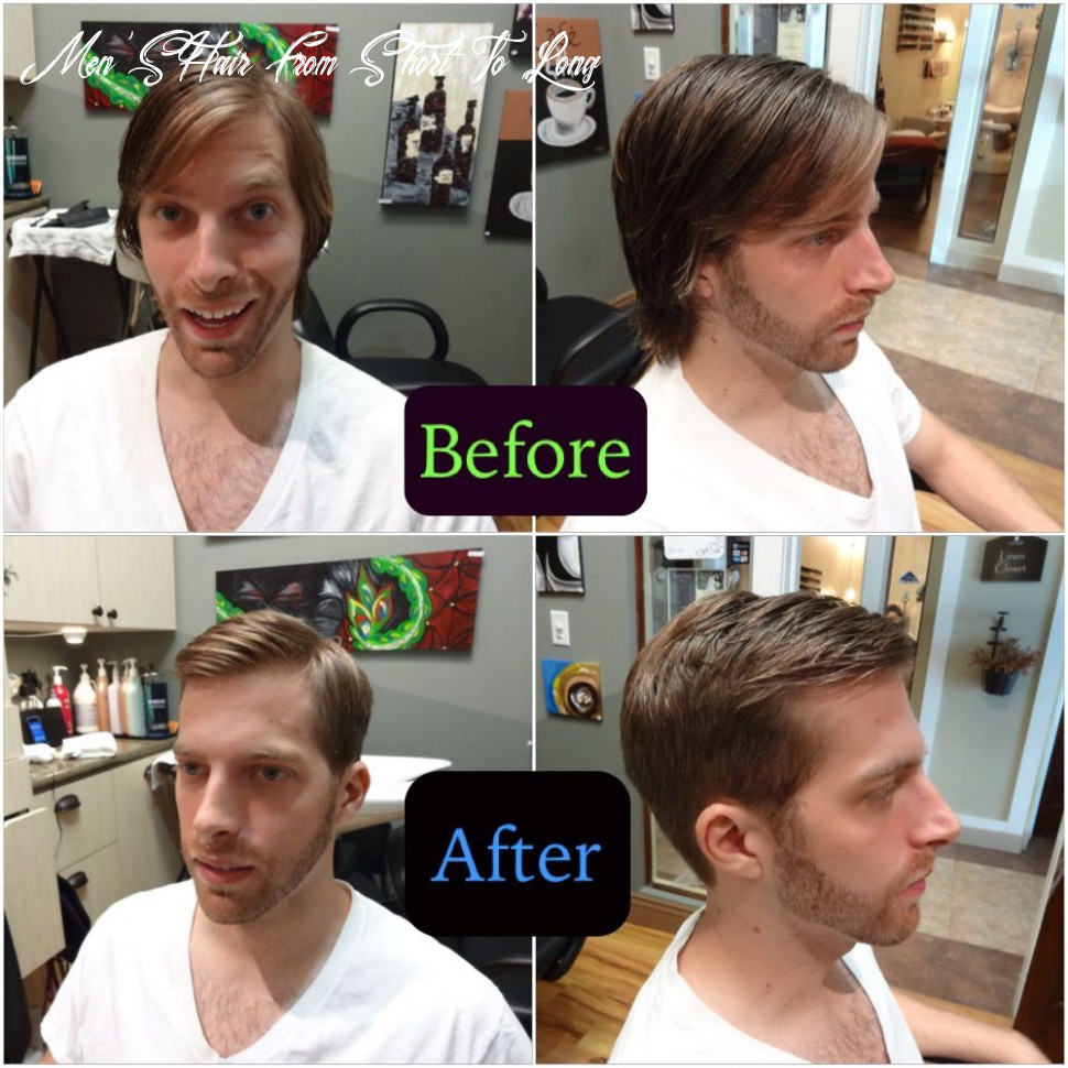 Www clhairartstudio com mens long hair to short haircut with