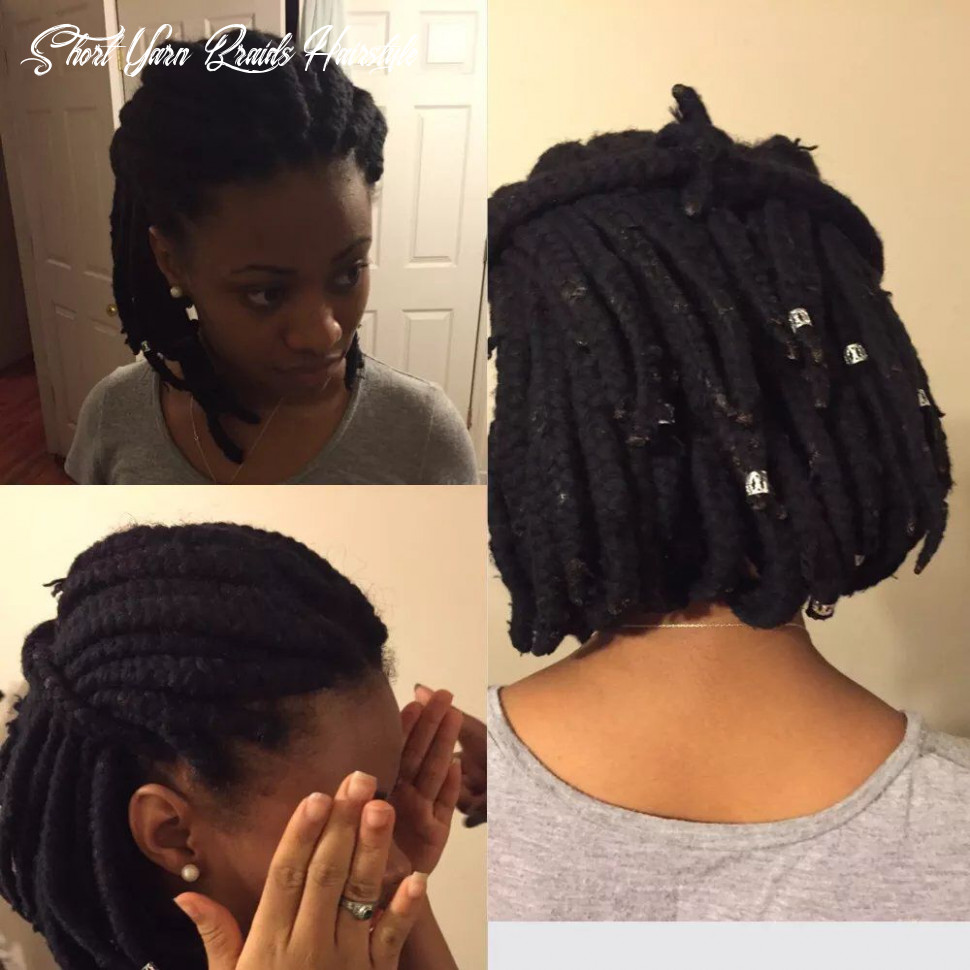 Yarn braids in a bob | hair styles, natural hair styles, braided